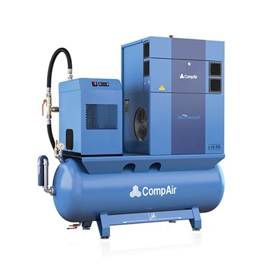 L07 to L22 lubricated screw air compressor with air tank and air dryer